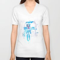 r2d2 V-neck T-shirts featuring R2D2 by sooarts