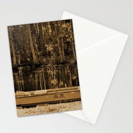 Boat And Swamp Waters Stationery Cards