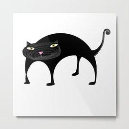 Black Kitty Cat Metal Print
