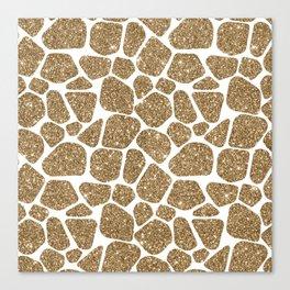 Glitter Giraffe Animal Print Pattern Canvas Print
