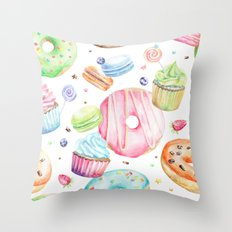 Sweets Pattern Throw Pillow