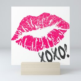 Pink Sexy Lips Mini Art Print