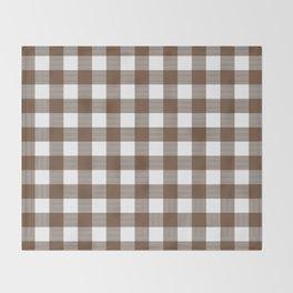 Gingham (Coffee/White) Throw Blanket
