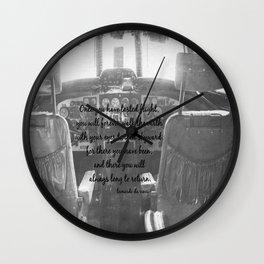Flight Skyward Da Vinci Wall Clock