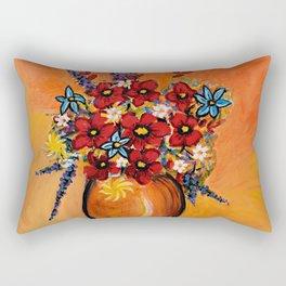 Flowers On Table Rectangular Pillow