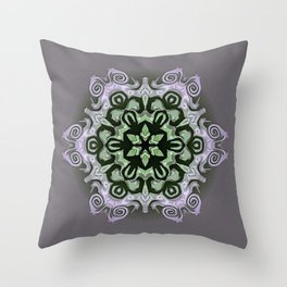 Sequential Baseline Mandala 12f Throw Pillow