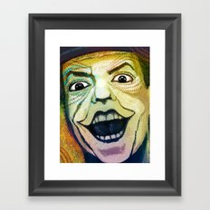 Joker Old Framed Art Print
