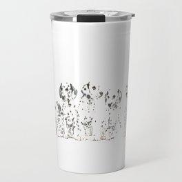 Cachorros de dálmata  ( Dalmatian puppies ) Travel Mug