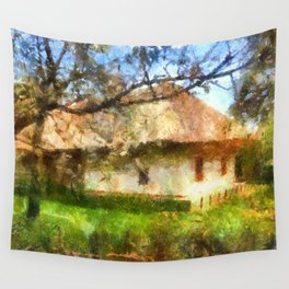 old Ukrainian house  Wall Tapestry