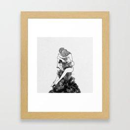 I find peace in your hug. Framed Art Print