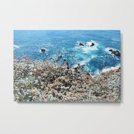 Flowers on a Cliff Metal Print