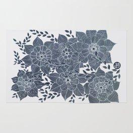 Zentangled Flowers Rug