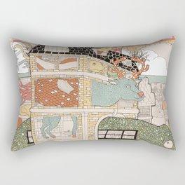 City of animamaly Rectangular Pillow