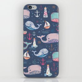 Whale Toss iPhone Skin