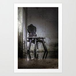 Gläser Sessel Art Print