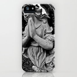 Praying angel iPhone Case