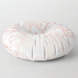 Boho Lotus Rose Gold Floor Pillow