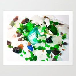 Beach Glass Art Print