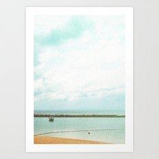 In between the seasky Art Print