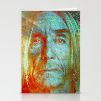 iggy pop Stationery Cards featuring Iggy by Joe Ganech