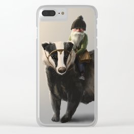 Gnome on Badger Clear iPhone Case