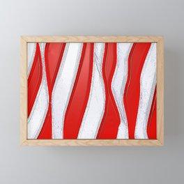 No Stars and All Stripes Framed Mini Art Print