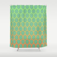yoga Shower Curtains featuring Yoga by Tinyghost