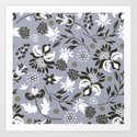 Victorian floral | slate gray by camcreative