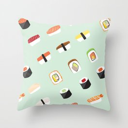 Food Series - Sushi Throw Pillow
