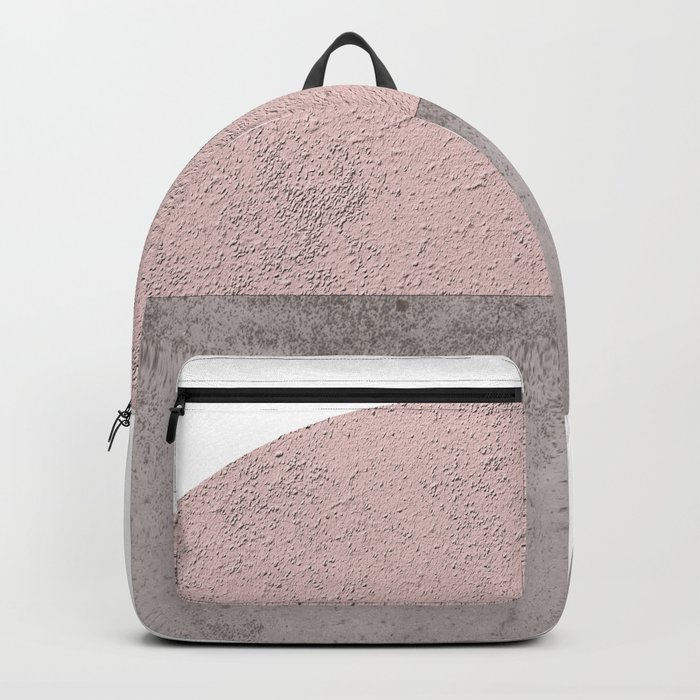 DARK BLUSH GRAY CONCRETE CIRCLE Backpack