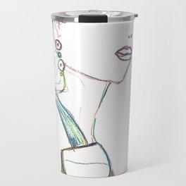 Color pencil fashion woman Travel Mug
