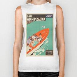 Vintage poster - Lake Winnipesaukee Biker Tank