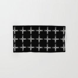 Moon Phase Cross Checker Plaid Large Print Hand & Bath Towel