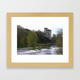 Kilkenny Castle and spillway Framed Art Print