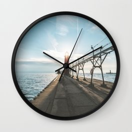 Grand Haven Lighthouse Wall Clock