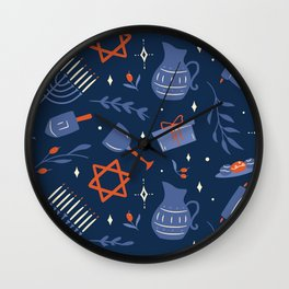 Hanukka Wall Clock