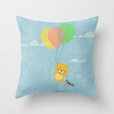 I can fly! Throw Pillow