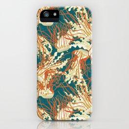 jellyfish blue iPhone Case