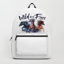 Horses Wild and Free Backpack