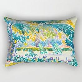 Henri-Edmond Cross Neo-Impressionism Pointillism Garden of the Painter at Saint Clair 1908 Rectangular Pillow