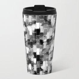 BRICK WALL SMUDGED (Black, White & Grays) Travel Mug