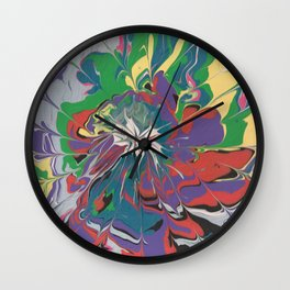 Acrylic Pour Over Swirl Wall Clock