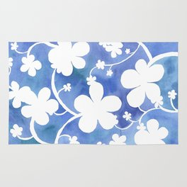 Flowers of snow Rug