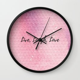 Live, Laugh, Love Wall Clock