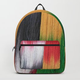Colorful Hand Dyed Wool Yarn Backpack