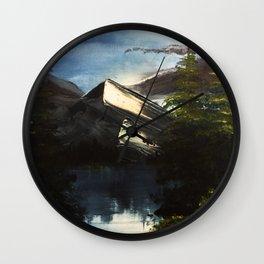 Blue Lake Lagoon Wall Clock