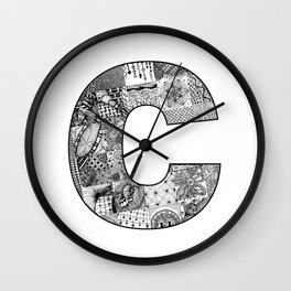 Cutout Letter C Wall Clock