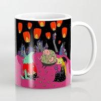 lantern Mugs featuring Lantern Fest by Soju Shots