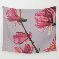 magnolia Wall Tapestries featuring Magnolia by Marjolein