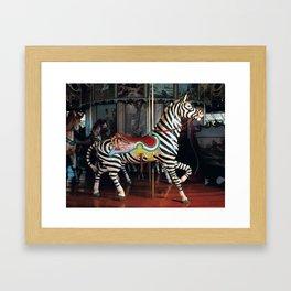 Outside Row Zebra Framed Art Print